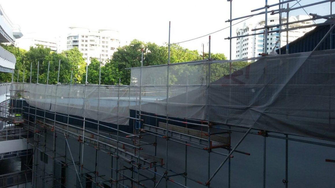 Cantilever scaffold @ keming Pri Sch 2