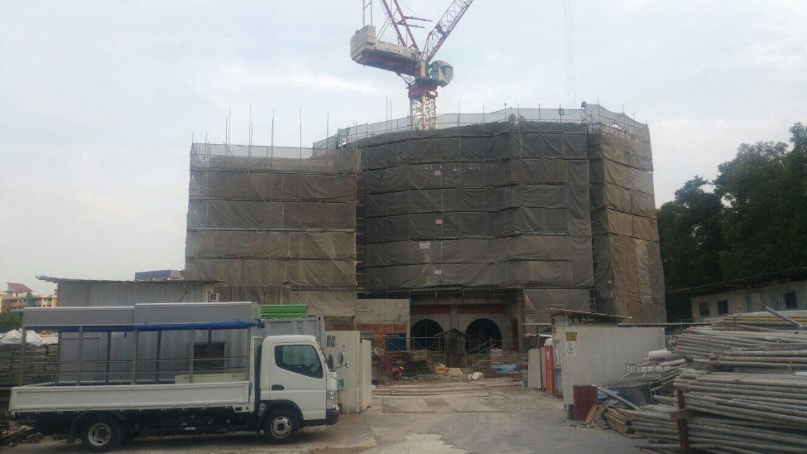 External scaffold @ Jurong West Mosques 2