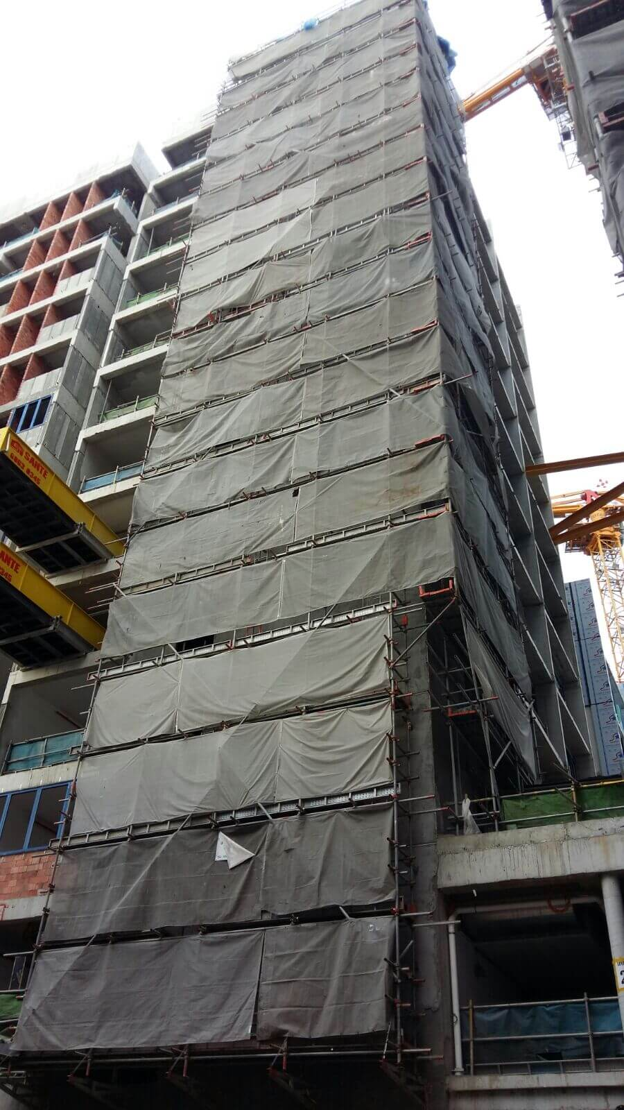 External scaffold @ NTU Hostel 2