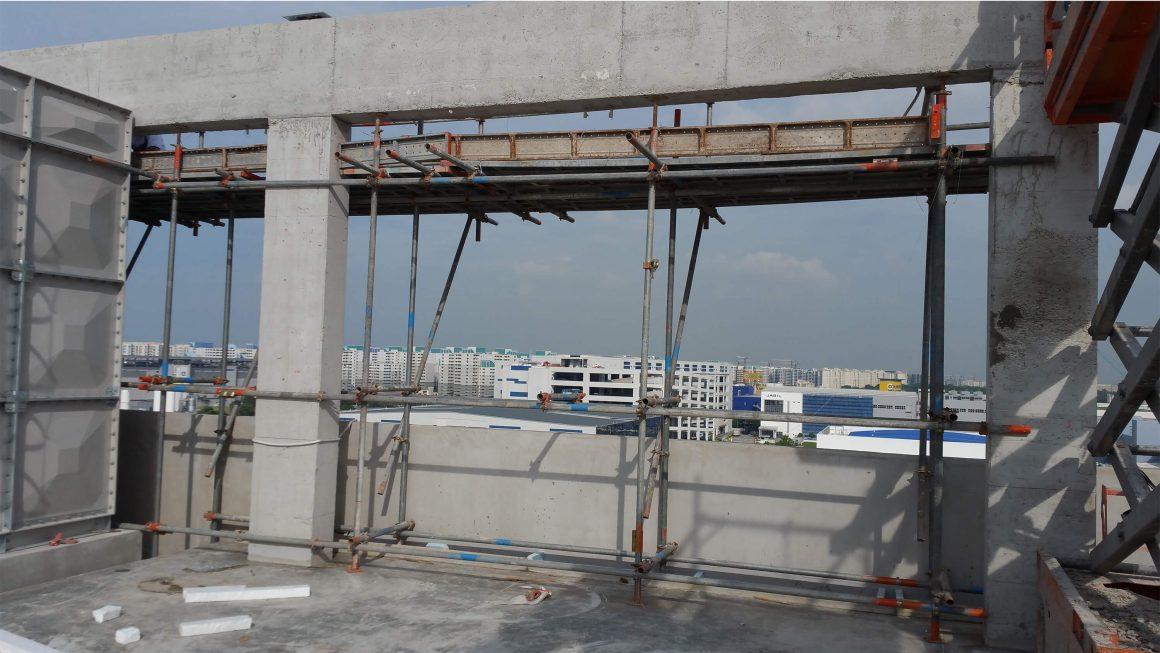 Install roof trellis @ Tampines Nanospace 2